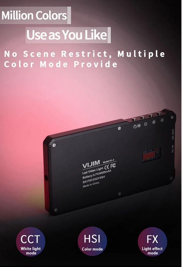 Đèn led video Ulanzi VIJIM VL-3 RGB hàng chính hãng