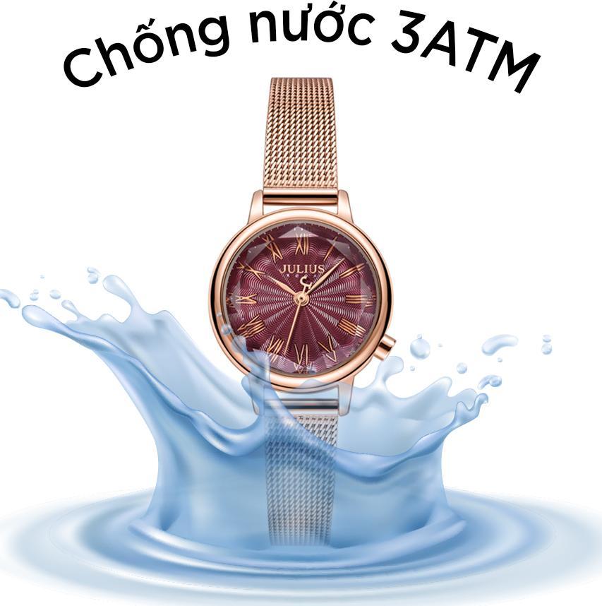 Đồng Hồ Nữ Thời Trang Julius Hàn Quốc JA-1249C Dây Thép