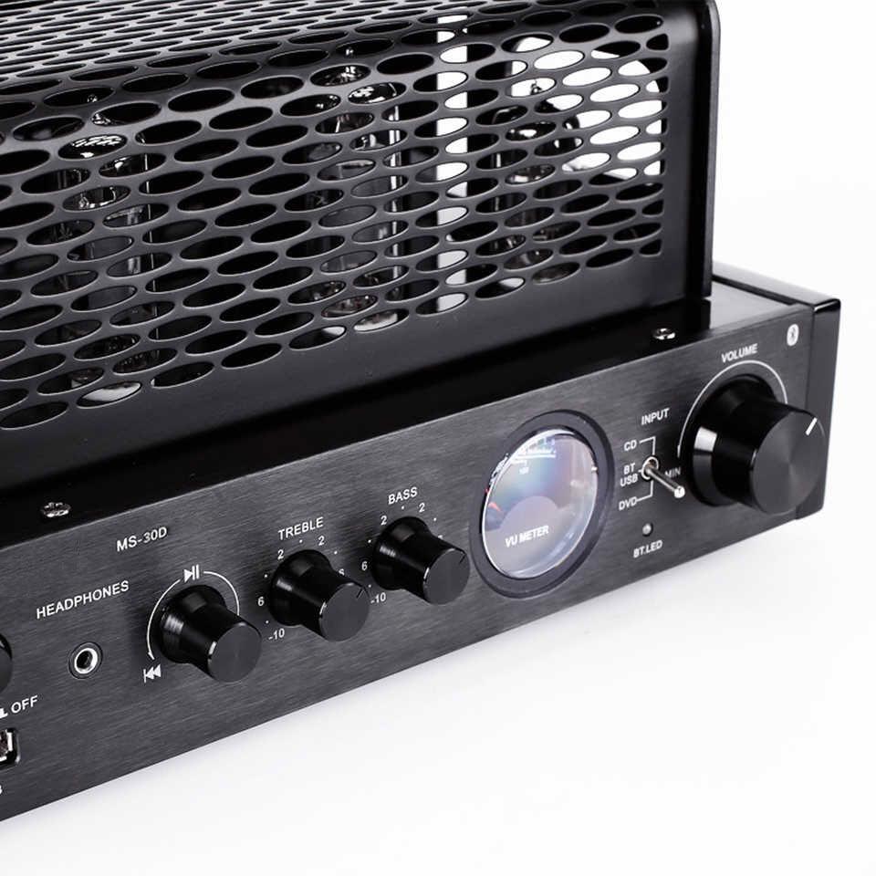 Amply Đèn MS-30D MKII Tích Hợp Bộ Giải Mã Âm Thanh DAC Model 2019 Hỗ Trợ Kết Nối Bluetooth, Cổng USB, Cổng Quang và Cáp Đồng Trục AnZ