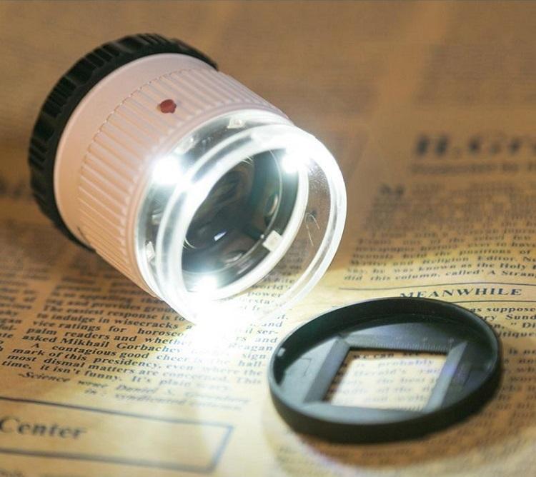 Kính lúp 30X để bàn soi mạch điện tử, bản in ( Tặng 01 tô vít mini )