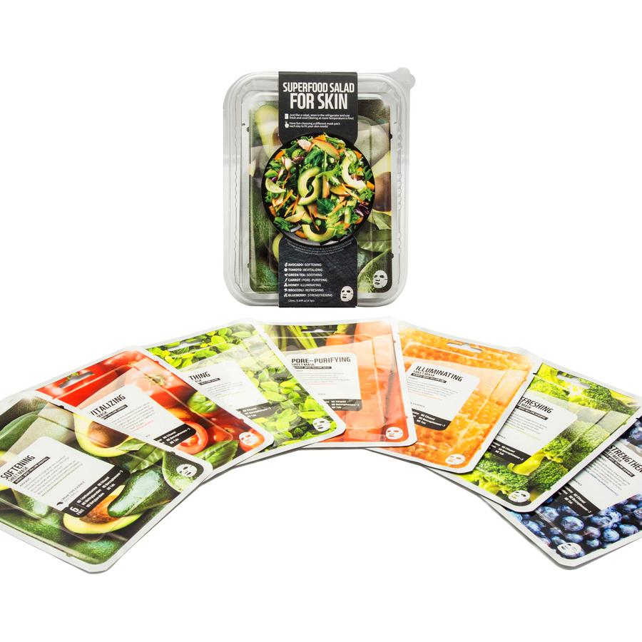 Combo 7 Mặt Nạ Dưỡng Da Farmskin Superfood For Skin C (25ml x 7 Miếng) - Mặt  nạ giấy   MuaDoTot.com