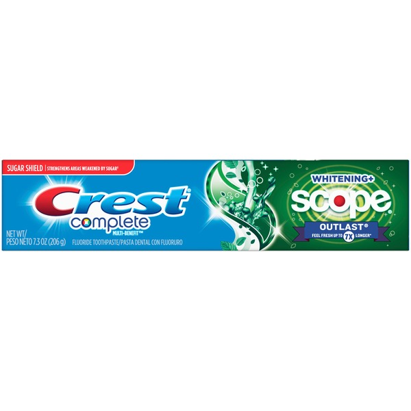 Kem đánh răng Crest Complete Whitening + Scope 206g