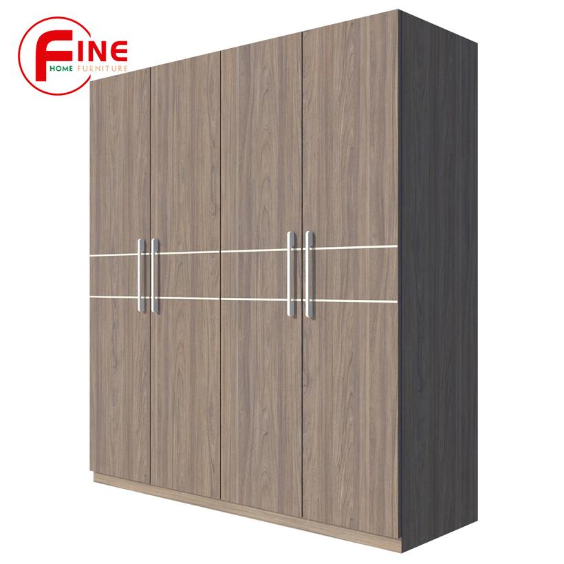 Tủ Áo FINE FT012F (180cm x 200cm), Gỗ MFC chất lượng, kiểu dáng tủ hiện đại