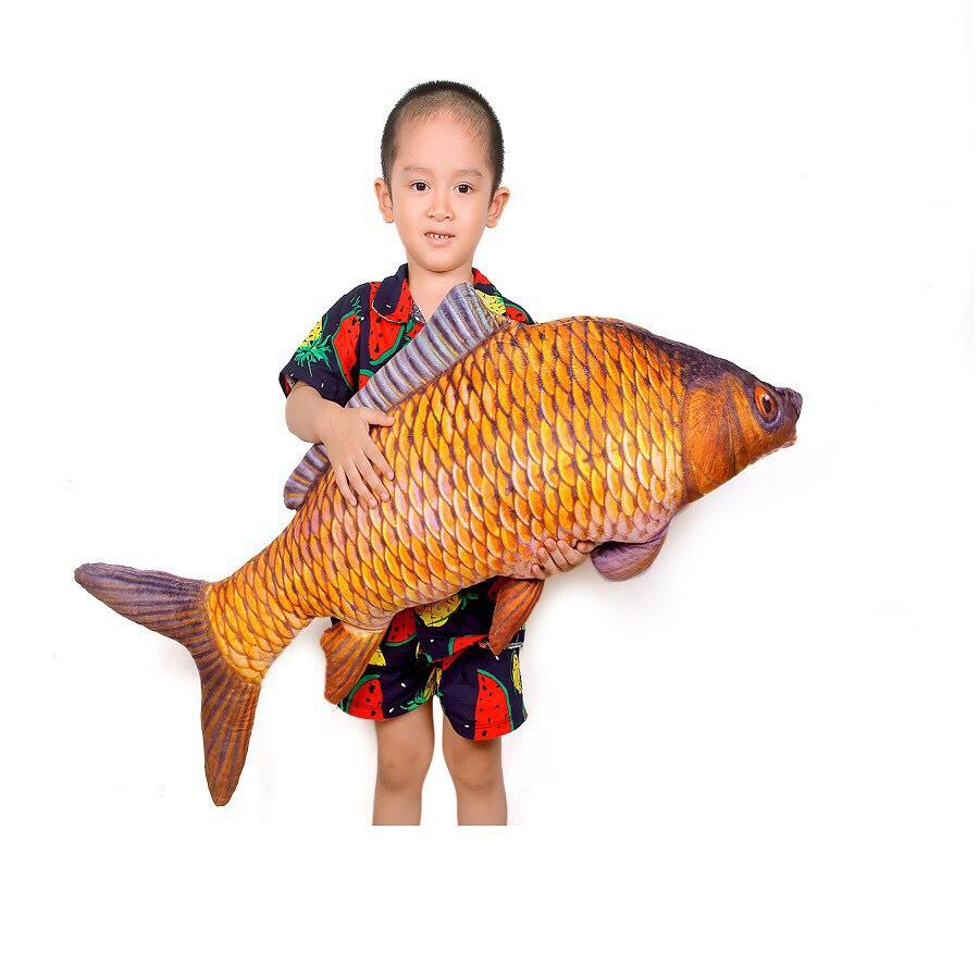 Gấu bông gối ôm cá chép khổ vải 1m