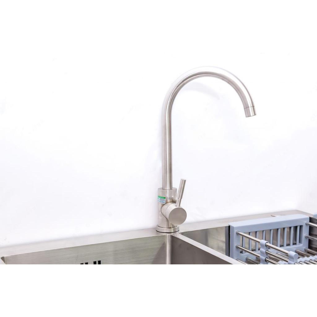 Vòi rửa bát inox nóng lạnh model Mg814