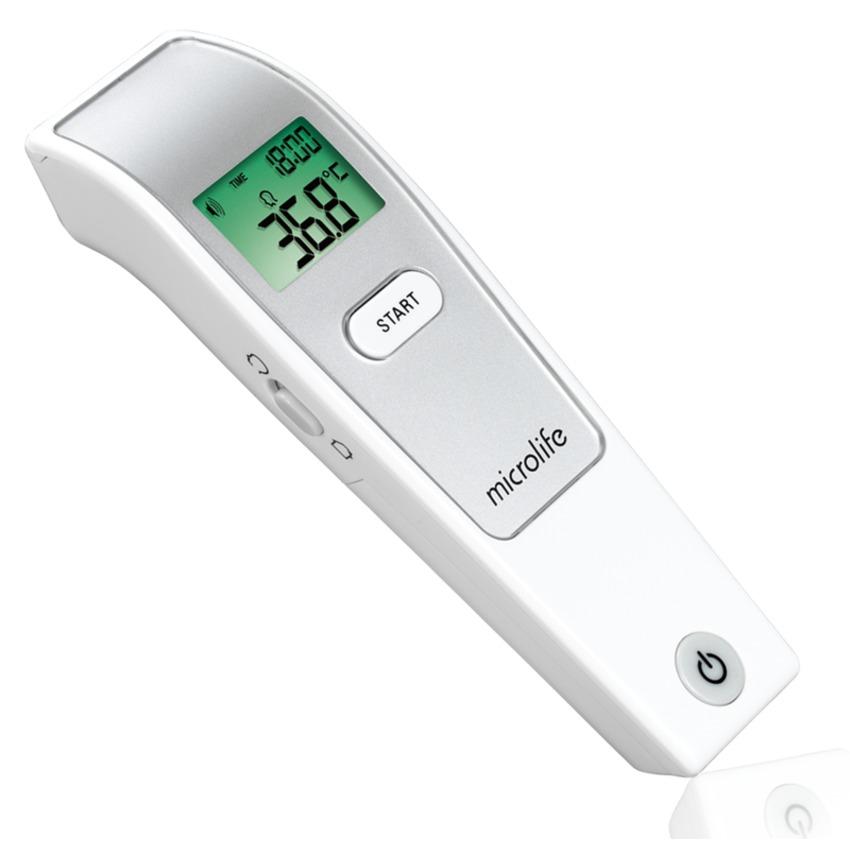 Combo Máy Đo Huyết Áp Bắp Tay Microlife A2 Basic + Adapter + Nhiệt Kế Hồng Ngoại Đo Trán MIcrolife FR1MF1