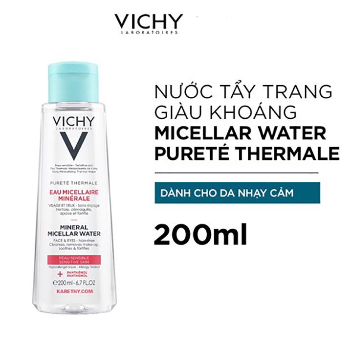 Nước Tẩy Trang Vichy Mineral Micellar Water Pureté Thermale Cho Da Nhạy Cảm 200ml