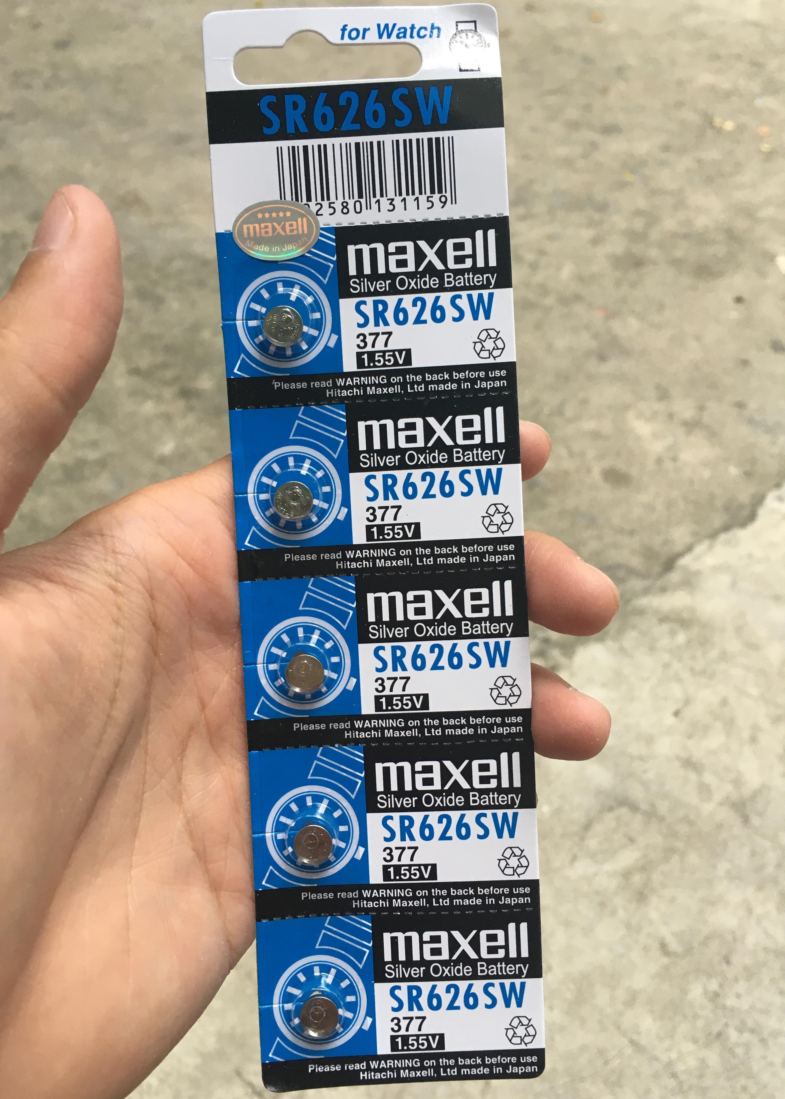Pin Đồng hồ đeo tay Maxell SR626SW 1.55V 377