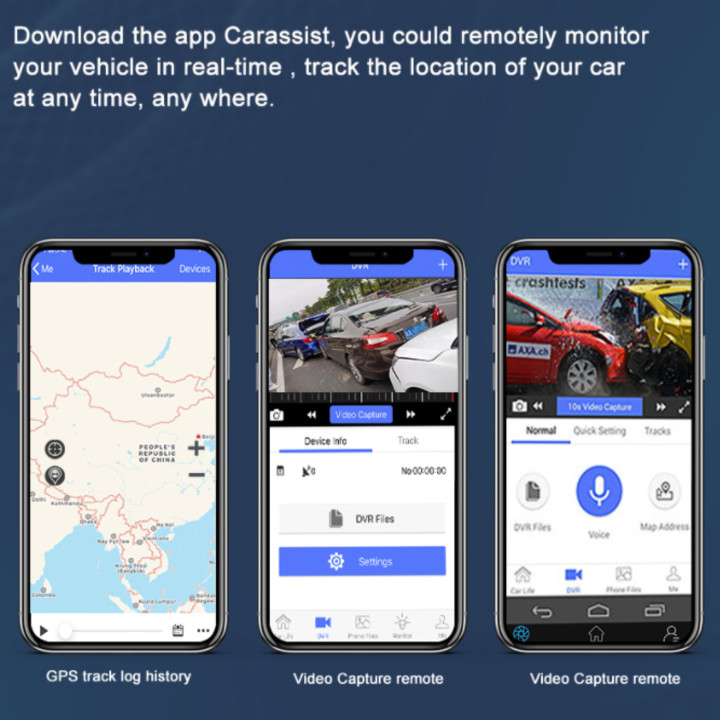 Camera hành trình 360 độ gắn gương và taplo ô tô cao cấp nhãn hiệu Phisung T88 màn hình cảm ứng 12 inch, ghi hình đồng thời 4 camera cùng lúc - Hàng Nhập Khẩu