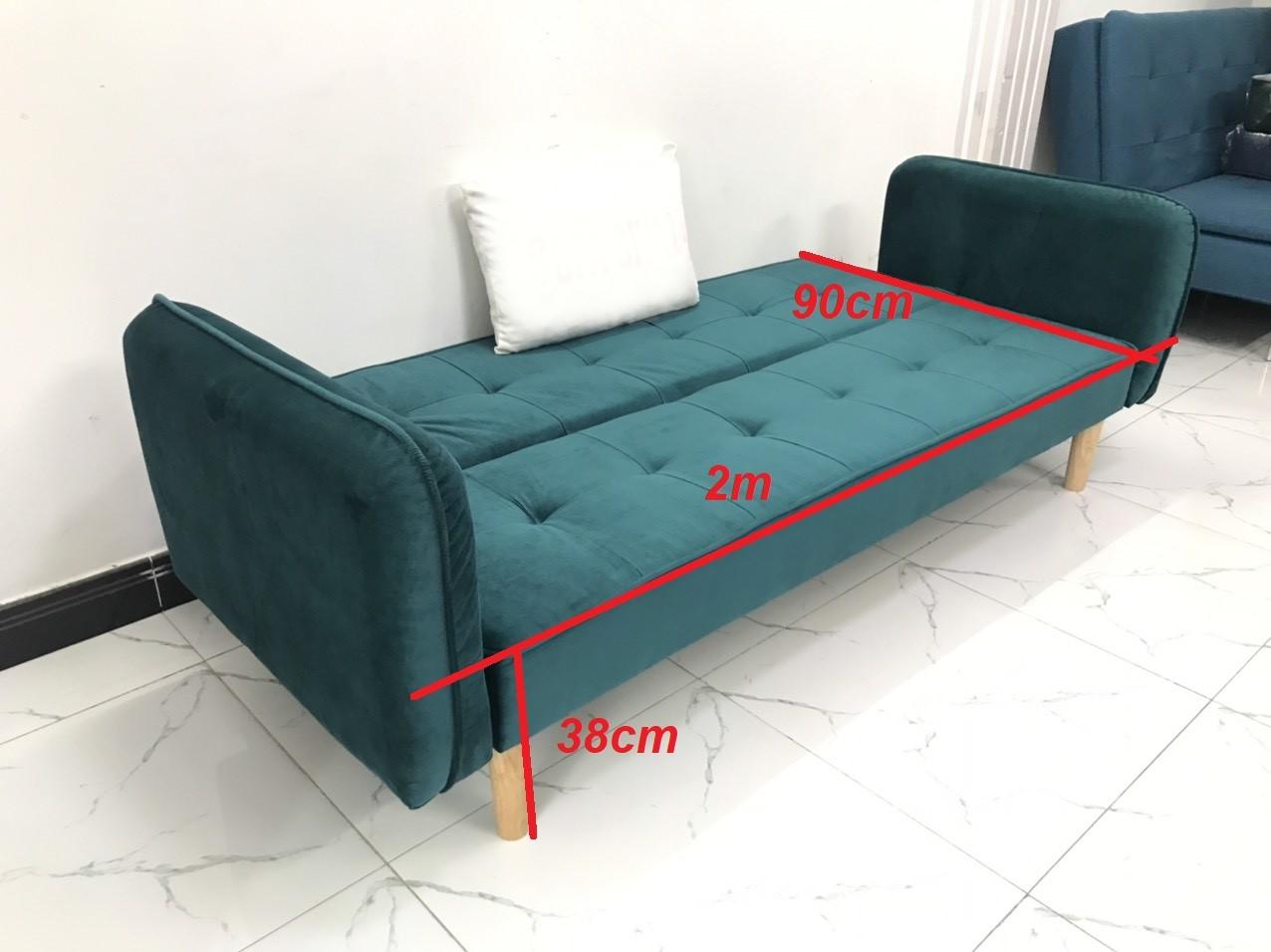 Bộ ghế sofa giường sofa bed tay vịn phòng khách salon sivali01 sopha