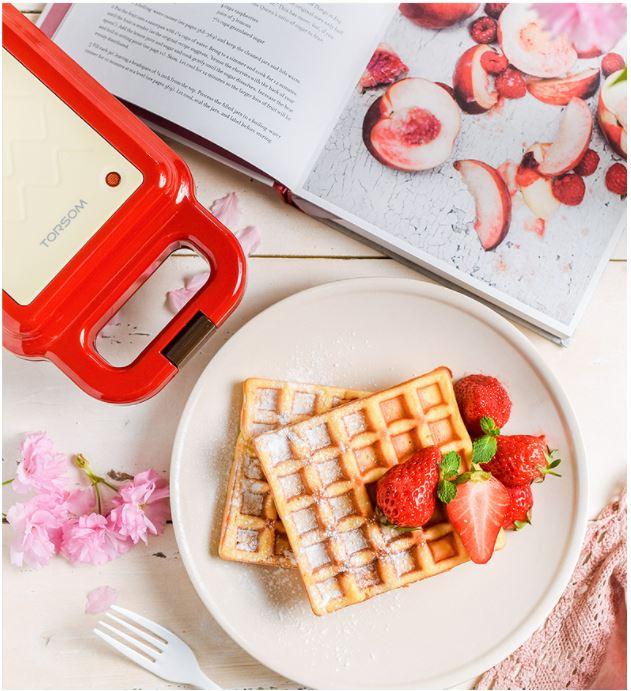 Máy Nướng Bánh Mì Sandwich Bánh Kẹp Đa Năng Gồm 4 Bộ Khuôn - Máy Nướng Bánh, Rán Trứng, Rán Thịt, Làm Bánh Mì Kẹp