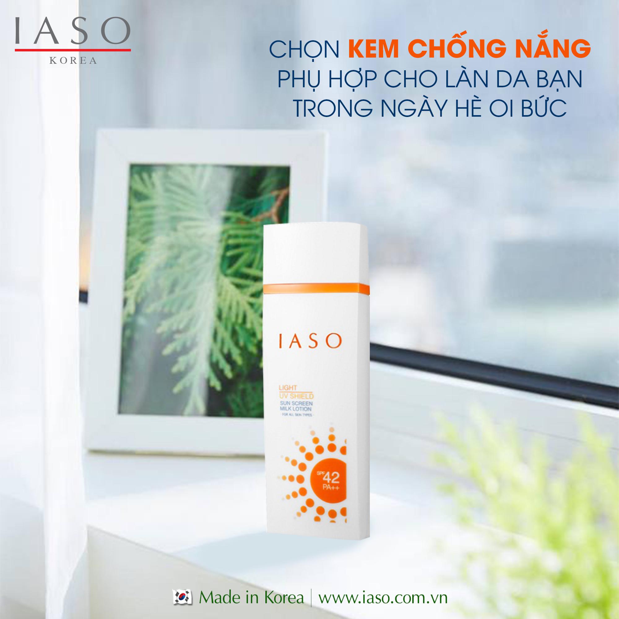 Sữa chống nắng Hàn Quốc IASO SPF 45 PA+++