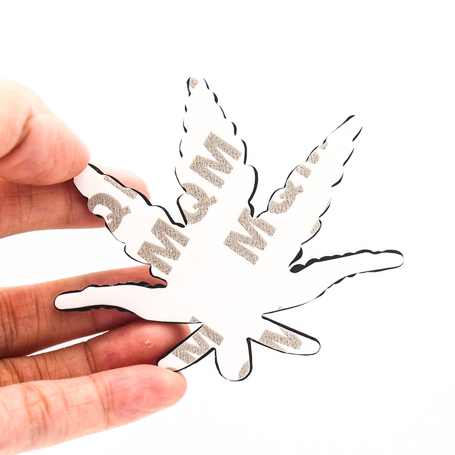 Sticker hình dán metal lá Cây Gai Lá Phong 3D