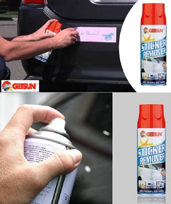 Bộ chai xịt tẩy băng dính nhựa đường và khăn lau xe