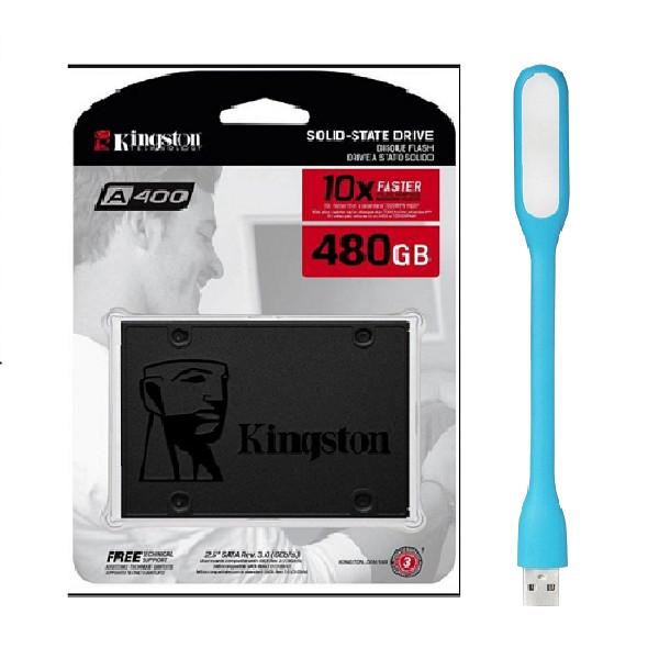 Ổ cứng SSD Kingston A400 SATA III 480GB SA400S37/480G - Hàng Chính Hãng + Tặng Đèn Led