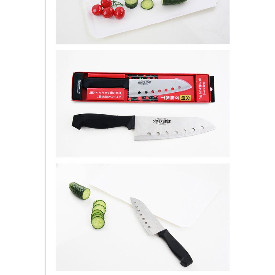Bộ 3 dao thái nhà bếp sắc bén có nhiều lỗ tiện dụng - Hàng nội địa Nhật