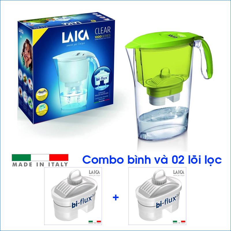 Combo Bình lọc nước LAICA J11A Vàng và 02 Lõi lọc nước  (MADE IN ITALY)