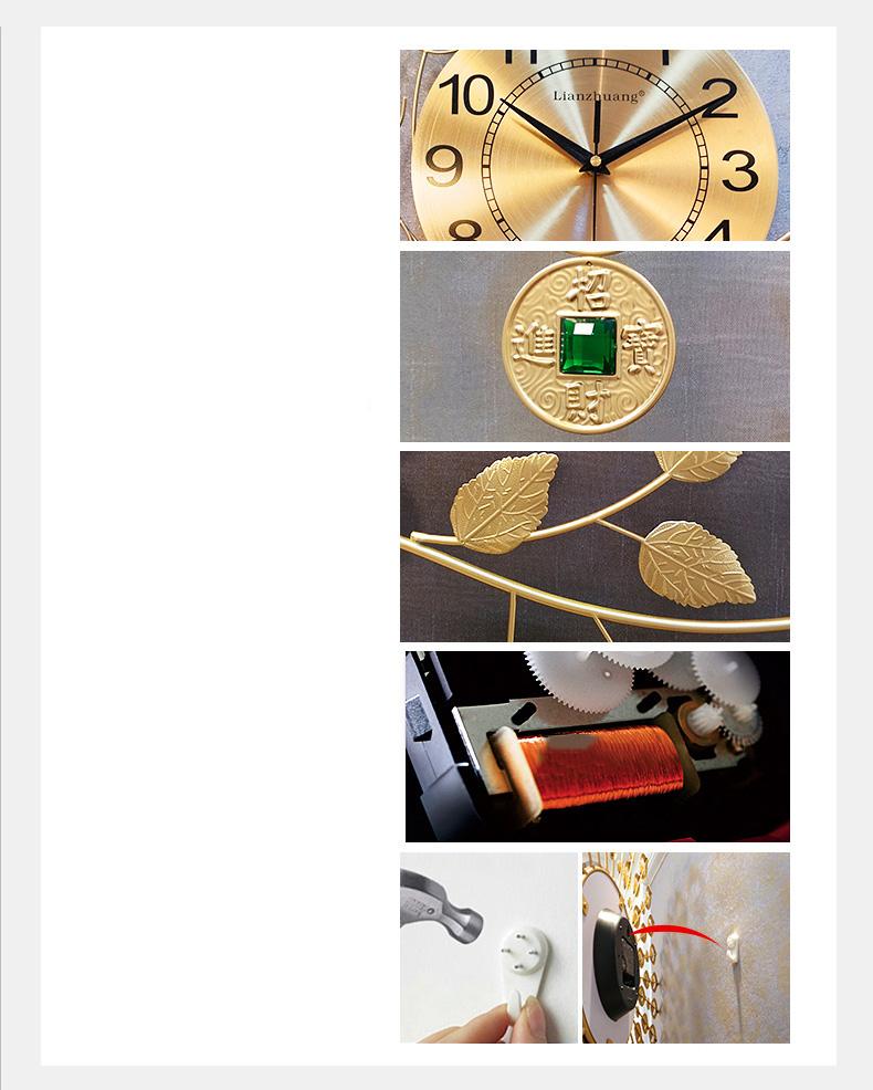 Đồng hồ treo tường cây tài lộc