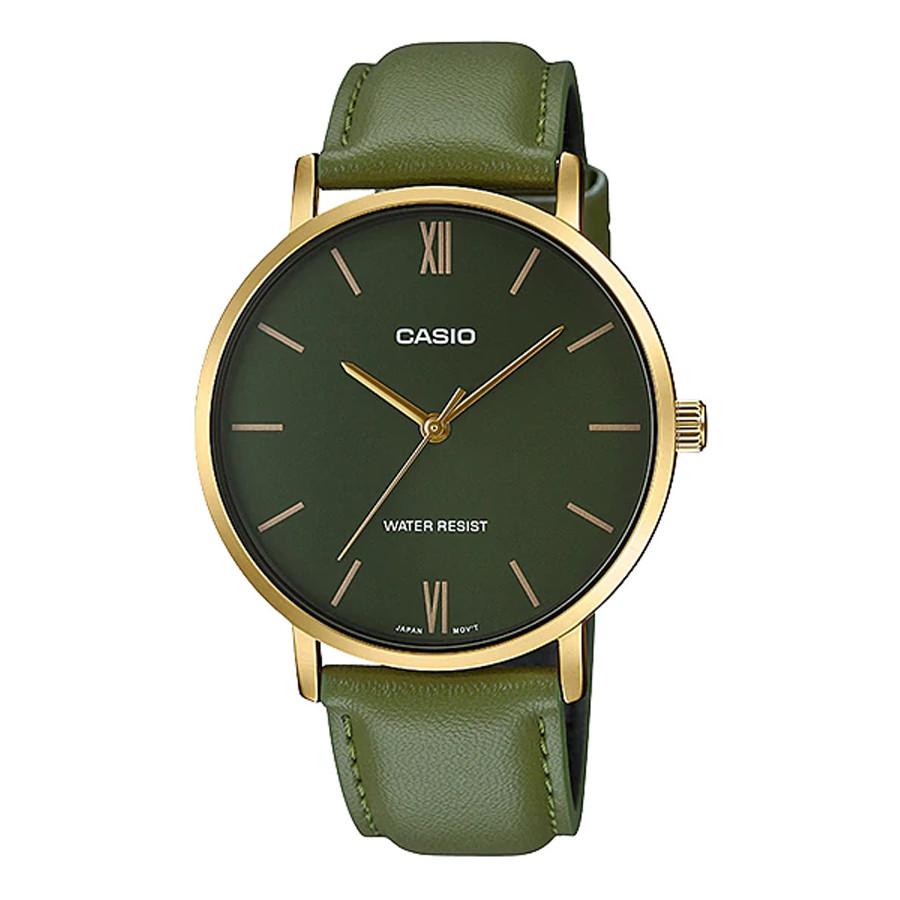 Đồng hồ nam dây da Casio Standard chính hãng MTP-VT01GL-3BUDF