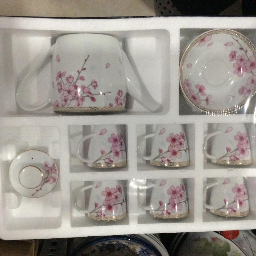 Bộ bình trà hoa anh đào CK