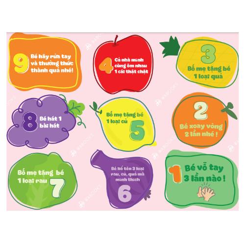 Đồ chơi - Hành trình rau củ - Trò chơi tương tác giữa bố mẹ và bé - Dành cho lứa tuổi 2-4