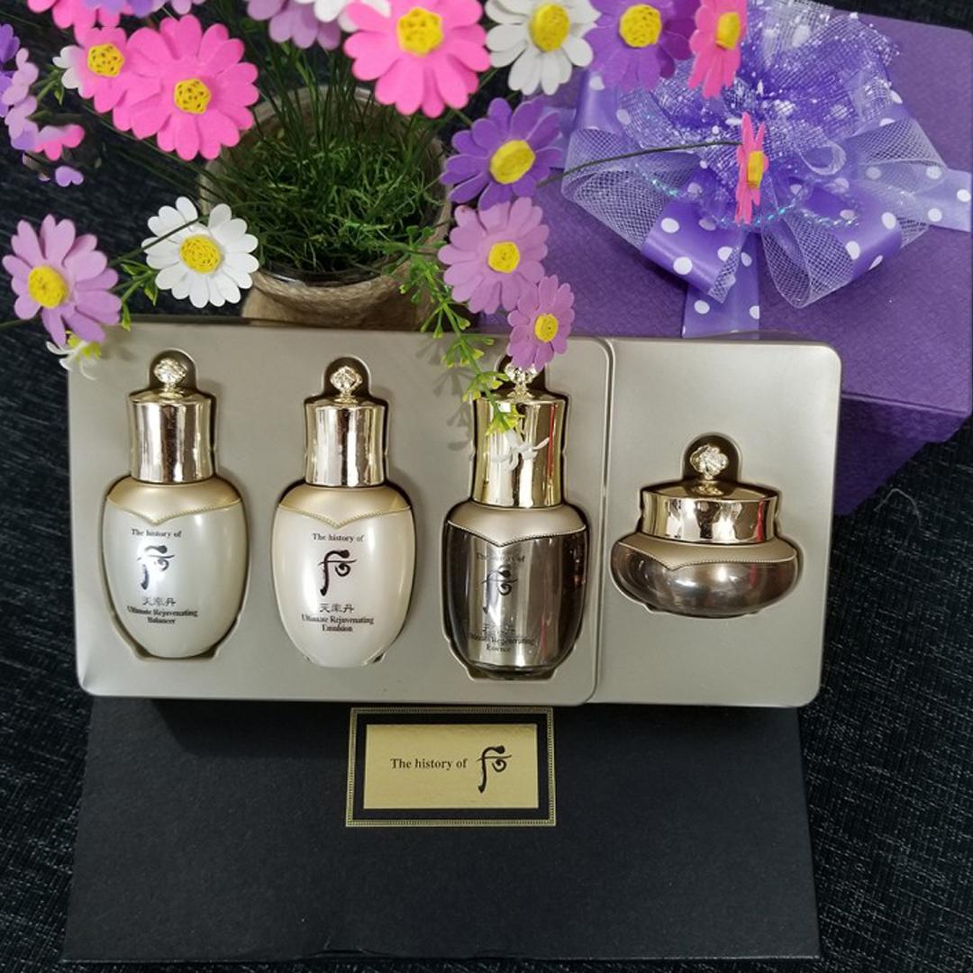 Bộ Dưỡng Tái Sinh Chống Lão Hóa Whoo Cheonyuldan Ultimate Regenerating Gift Set 4pcs 68ml