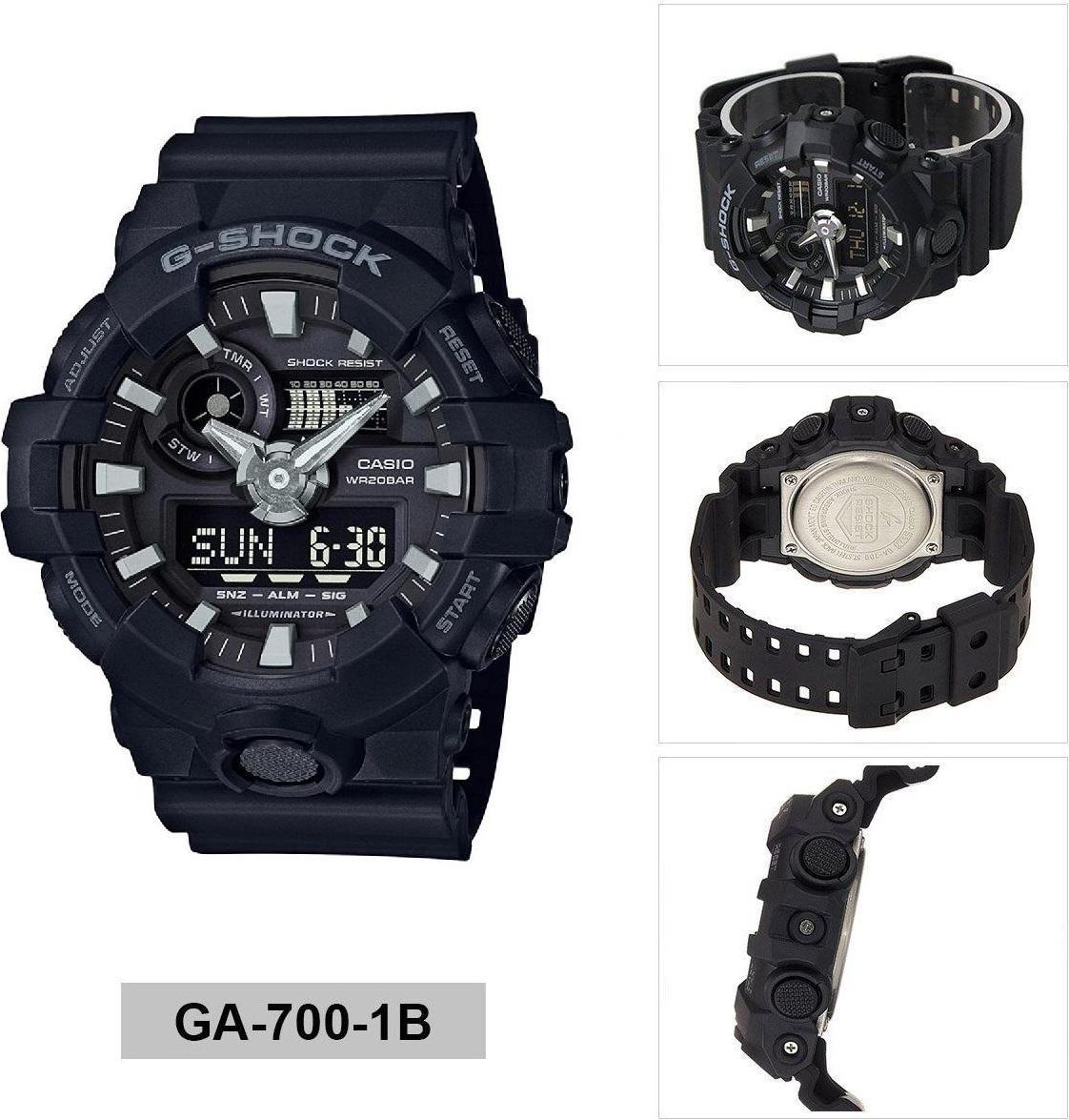 Đồng hồ nam dây nhựa Casio G-SHOCK GA-700-1BDR