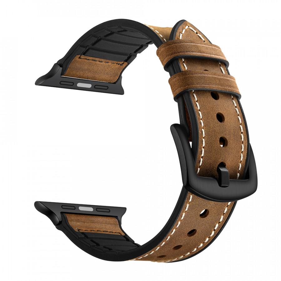 Dây đeo JINYA Hero Leather cho Apple Watch - Hàng Chính Hãng