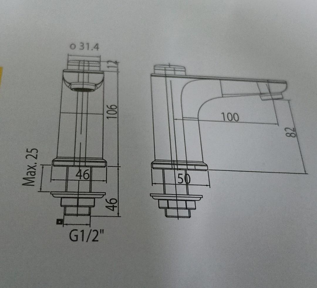 Vòi lavabo lạnh nhấn EasyFLO American Standard Sandrad WF-T823(FFAST823) vòi chưa bao gồm bộ xả và dây cấp
