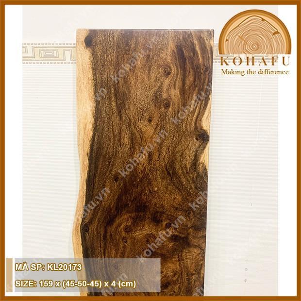 Mặt gỗ me tây nguyên tấm Kohafu, phù hợp làm bàn ban công quầy bar nhỏ