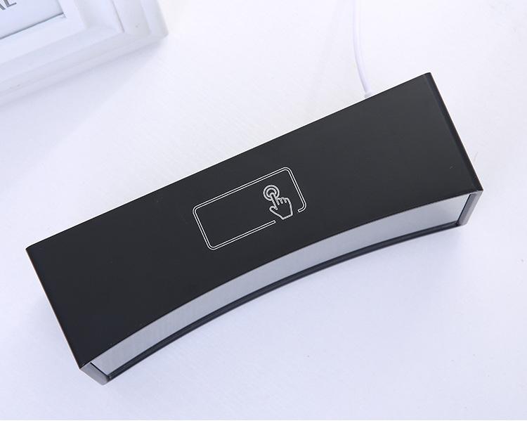 Đồng hồ để bàn ENBOW LED 3D màn hình gương cong hiện đại, tiện ích đa chức năng.