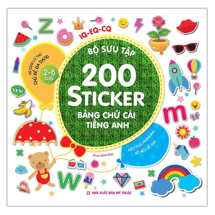 Bộ Sưu Tập 200 Sticker - Bảng Chữ Cái Tiếng Anh