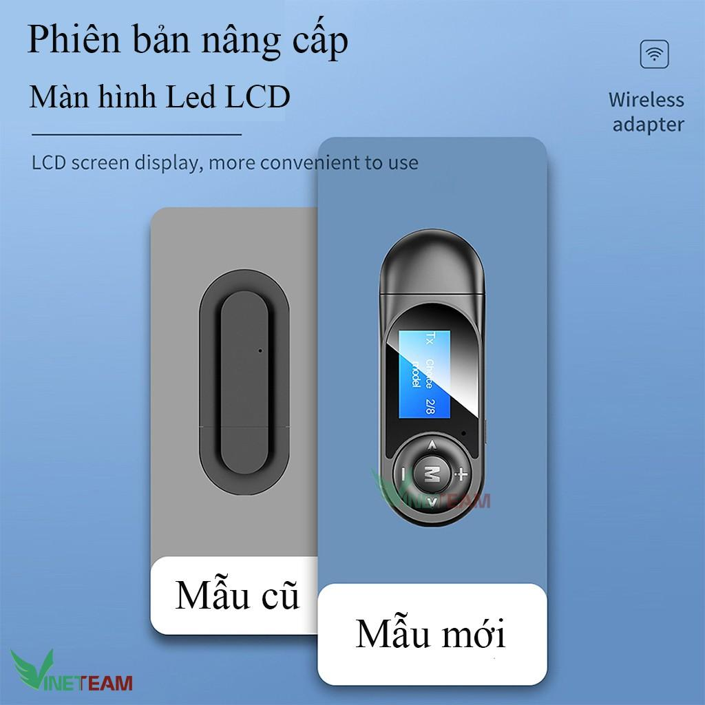 Bộ Thu Phát Âm Thanh Lcd T13 Usb Bluetooth 5.0 3.5mm -dc4352