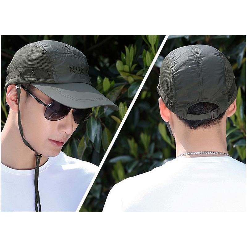 Mũ chống nắng đi câu cá -  dã ngoại chống tia UV MCN01 Giao màu ngẫu nhiên