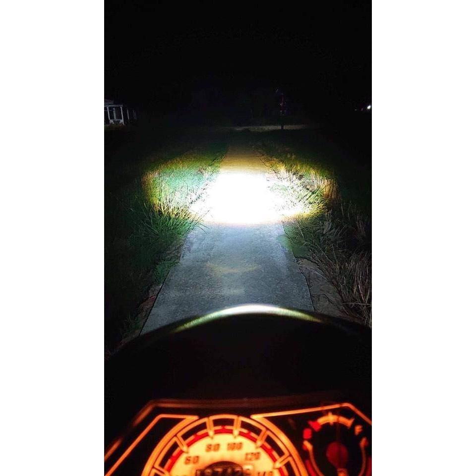 Đèn Pha Bi Cầu L1 Chân Cài H4 Ánh Sáng Trắng - Vàng Tản Nhiệt Nhôm