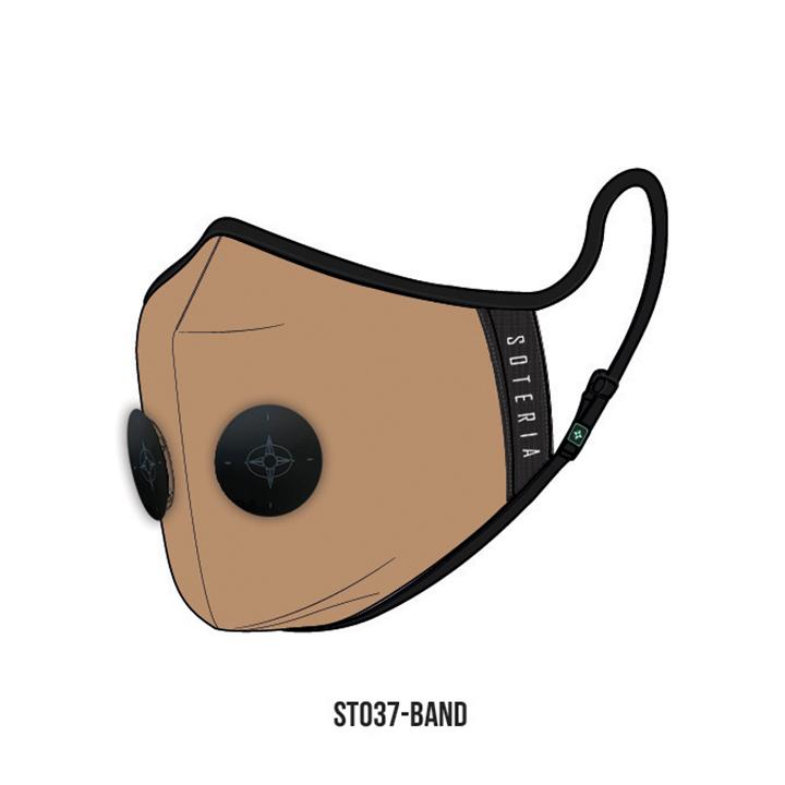 Khẩu trang thời trang cao cấp Soteria Band ST037 - Khẩu trang vải than hoạt tính [size M,L] Van đen