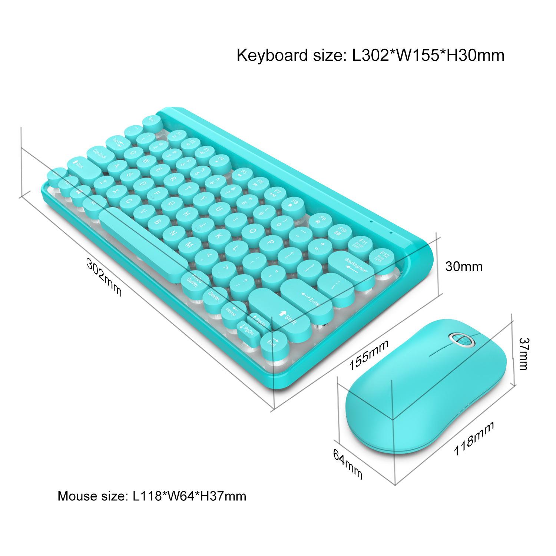 Bộ bàn phím và chuột không dây HXSJ L100 siêu mỏng - Hàng chính hãng