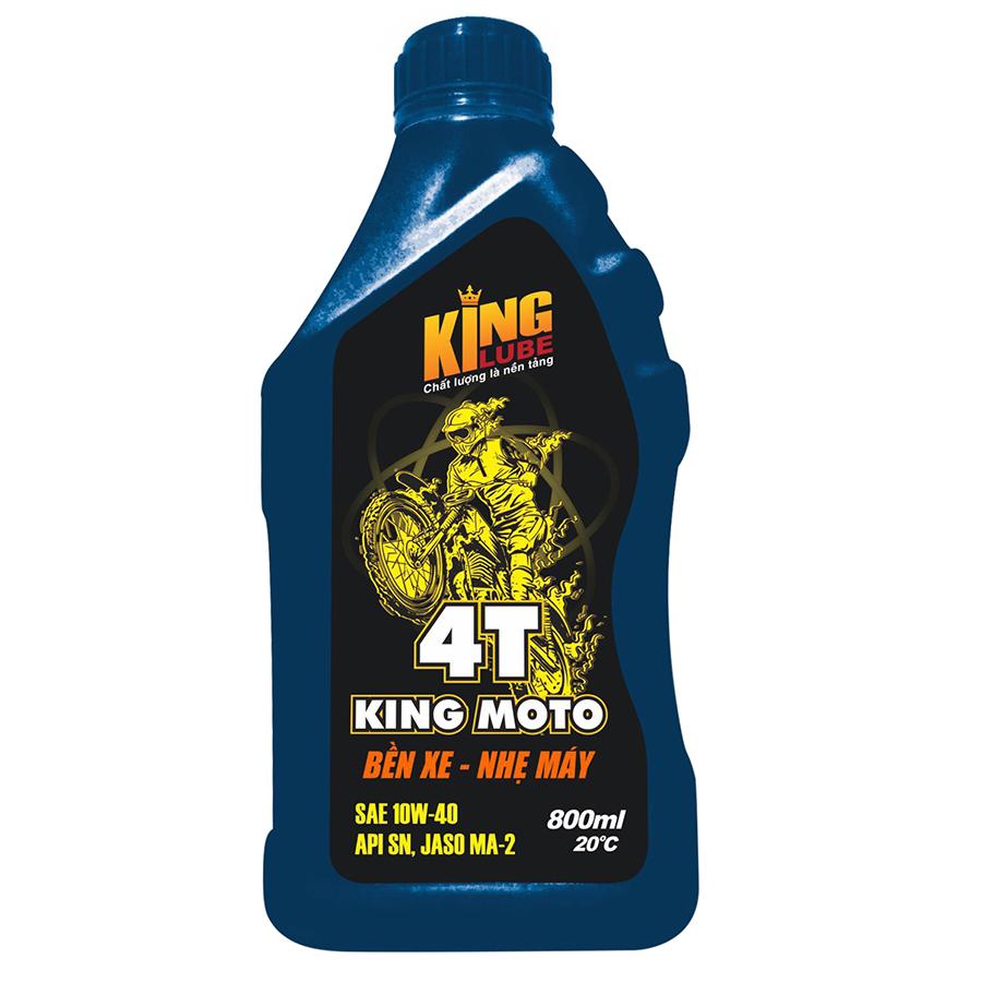 Dầu Nhớt Xe Máy King moto 4T KINGLUBE SN 10W-40