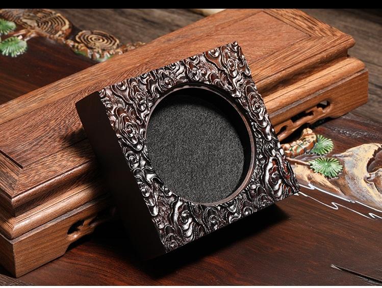 Lư đốt trầm hương mã LDT01 kt: 11cm x6.5cm nhang nụ, nhang vòng bằng gỗ mun chống cháy.