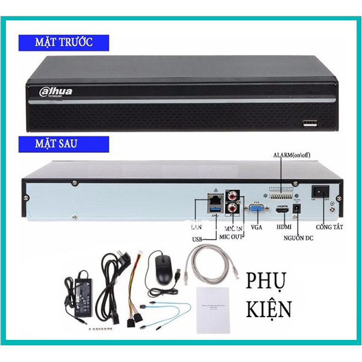 Đầu ghi hình camera 8 kênh IP DAHUA DHI-NVR4208-4KS2/L hàng chính hãng DSS Việt Nam