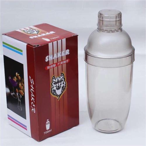 Bình Lắc Cocktail Shaker 700Ml Nhựa Dày Pha Chế Trà Sữa , Cocktail , Cafe