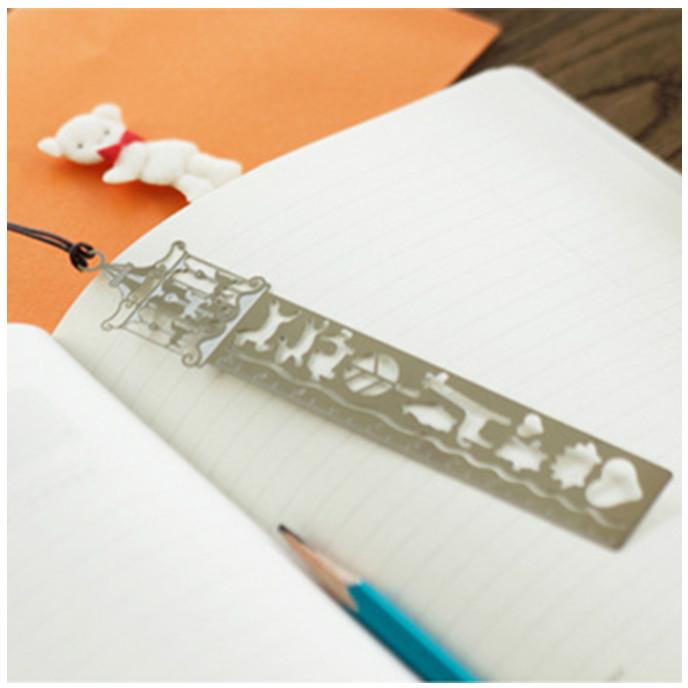 Bookmark Đánh Dấu Sách Tích Hợp Thước Kẻ Kim Loại Cao Cấp - Giao Mẫu Ngẫu Nhiên