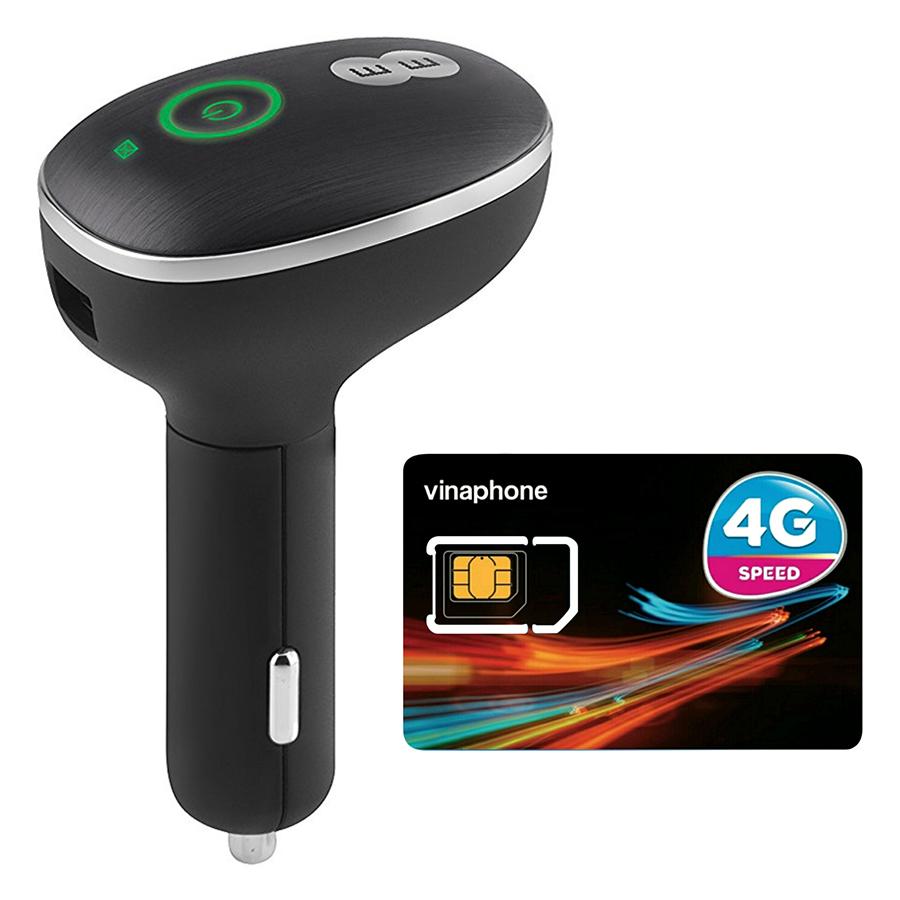 Bộ Phát Wifi 4G Cho Xe Ô Tô Huawei E8377 150Mbps + Sim Vinafone 3G/4G Nghe Gọi (Tặng 2GB / Ngày) - Hàng chính hãng
