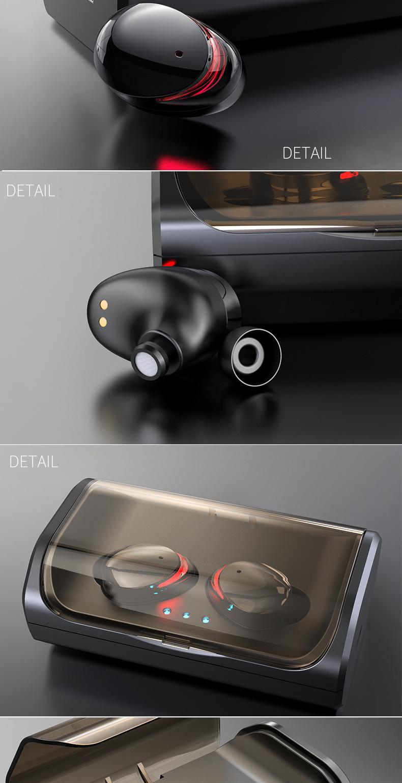 Tai Nghe Bluetooth Cảm Ứng Không Dây Chống nước True wireless  V5.0 TWS-T8