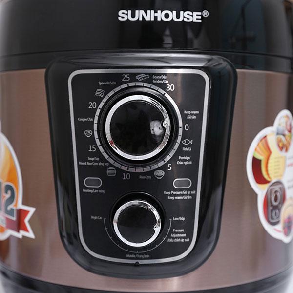 Nồi Áp Suất Điện Đa Năng Sunhouse SHD1659 (5L) - Café - Hàng chính hãng