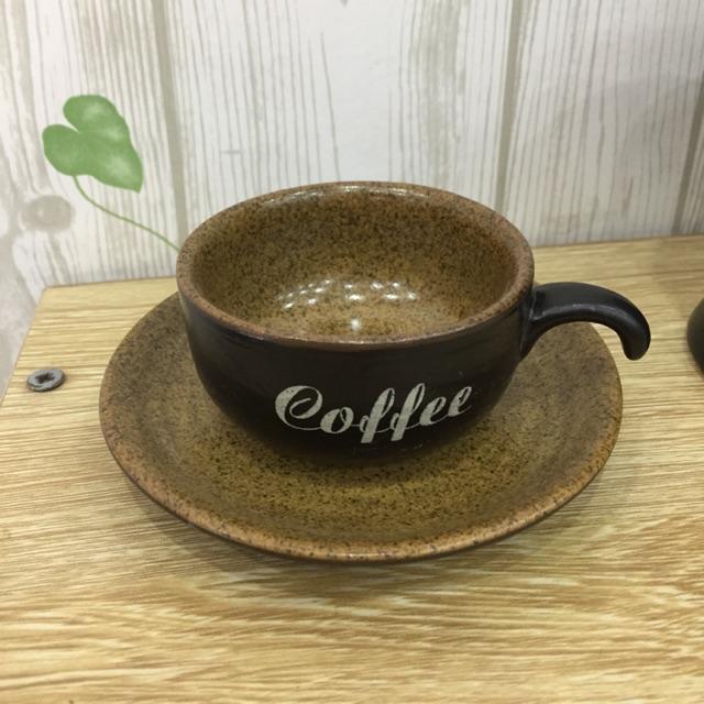 Cốc cafe men nâu