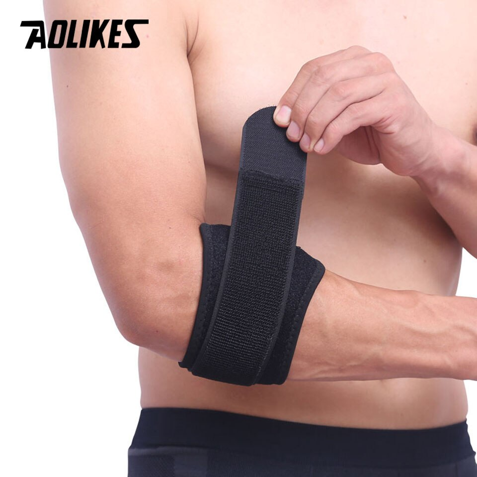 Đai bó cơ khuỷu tay AOLIKES YE-7947 Sport Elbow Support quấn chặt cơ, cố định cơ khuỷu tay khi thể thao - Hàng Chính Hãng