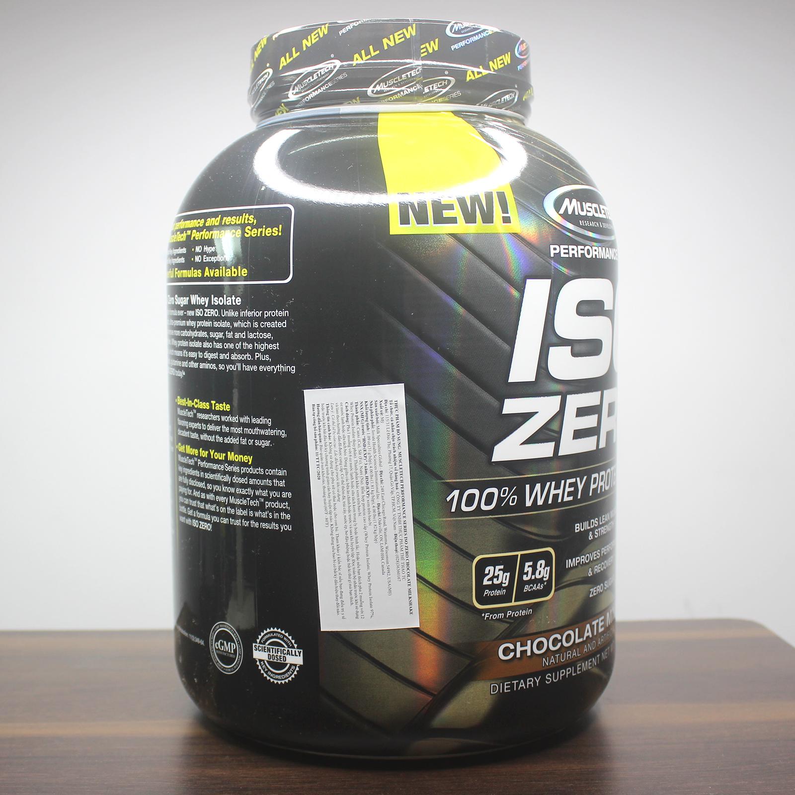 Combo Sữa tăng cơ giảm mỡ Iso Zero hương Chocolate hộp 4lbs & Pre Workout Vapor x5 hương Blue Razz hộp 30 lần dùng & Bình lắc 600ml (mẫu ngẫu nhiên) & Áo thun thể thao (size L 68-80kg)