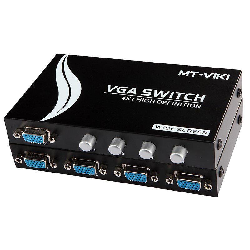 Bộ chia VGA 4 vào 1 ra chính hãng MT-Viki MT-15-4CH. bộ chuyển 4 CPU ra 1 màn hình