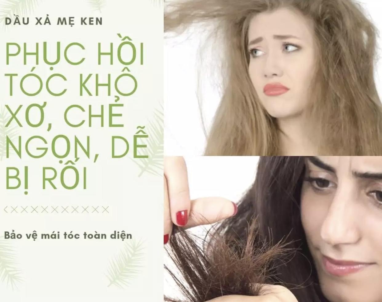 Tinh Chất Thảo Mộc Mồng Tơi Mẹ Ken - 50ml Dầu xả tóc, suôn mềm mượt tóc